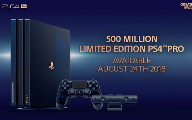PS4 Pro, un'edizione limitata per festeggiare 500 milioni di PlayStation